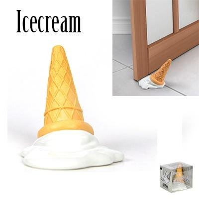 Ice Cream Door Stopper Door Stops Silicone Premium Novel for Home, Cafes and Office Non-Scratch Slip Resistant
