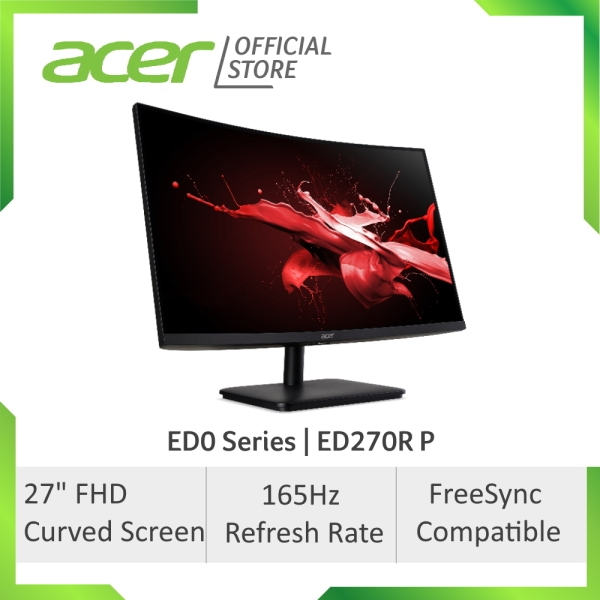 [2021 MODEL] Acer ED0 Series ED270R P 27 inch FHD Curved Gaming Monitor with 165Hz Refresh Rate
