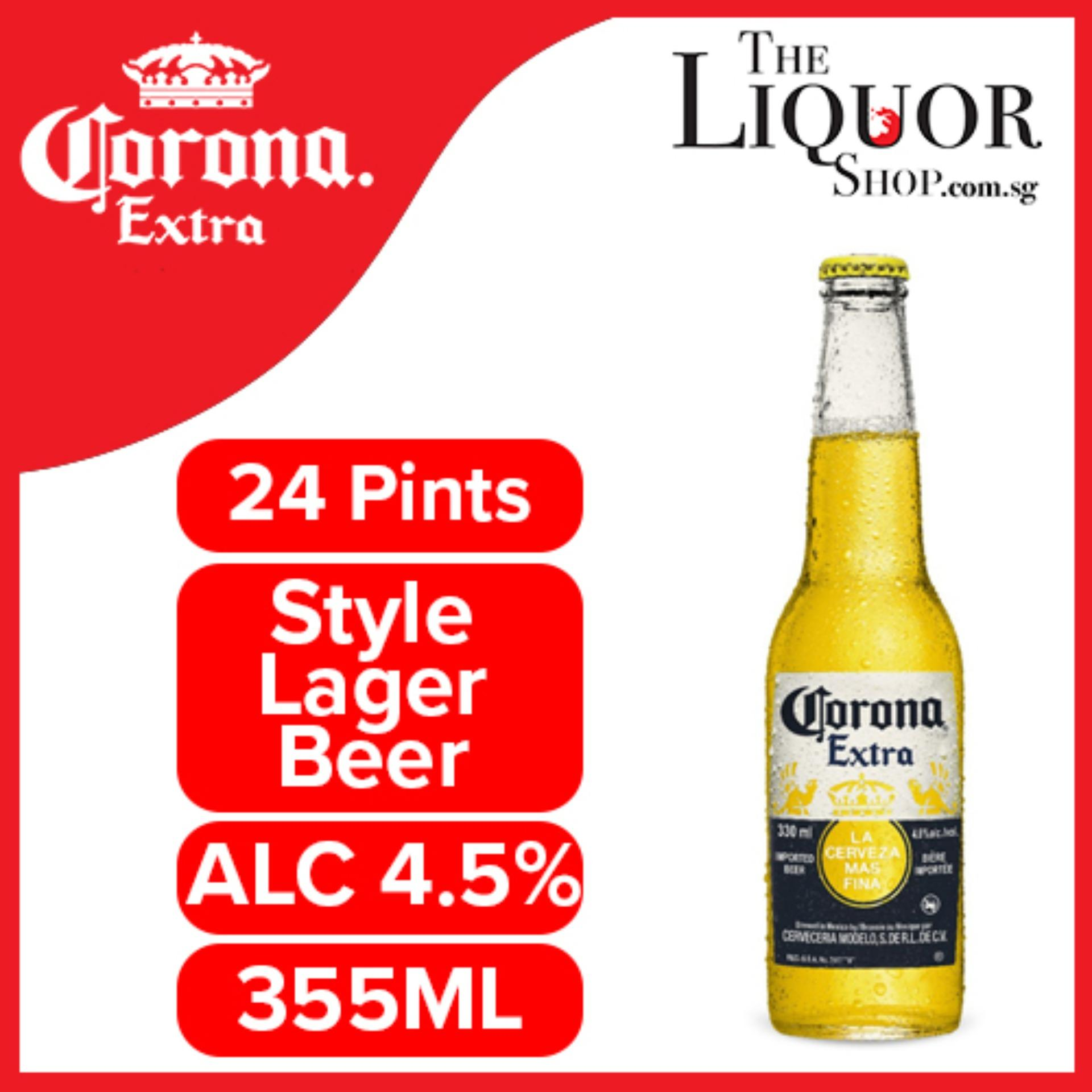 Corona Extra Beer 355 ml x 24 Bottles ( Exp: 16/04/20 - Free Delivery -  Fast Delivery - 3 to 5 working days - The Liquor Shop )