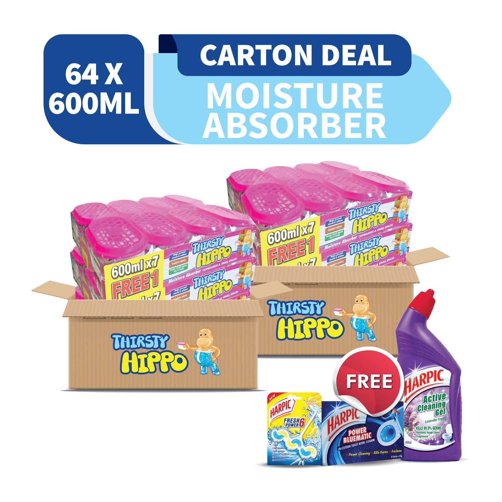 Thirsty Hippo Carton Deal Free Harpic Active Cleaning Gel Lavender And Harpic Fresh Power 6 Wave Summer Breeze And Harpic Bluematic