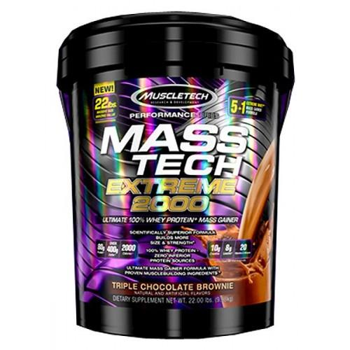 Muscletech - Mass Tech Extreme 2000 (22lbs) - Triple Chocolate Brownie By Nutrition Pro.