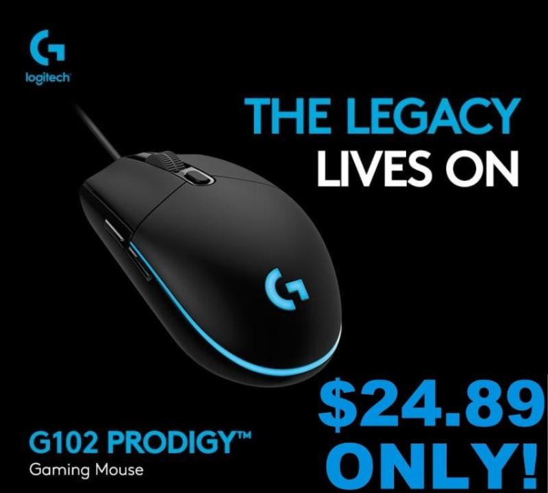 Logitech G102 Optical Gaming Mouse - 8000 DPI with 16.8 Million Colours RGB Gaming or Basic mouse *Lowest price in SG*