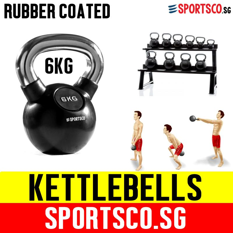 Sportsco 6kg Rubber Coated Kettlebell (sg) By Sportsco Singapore.