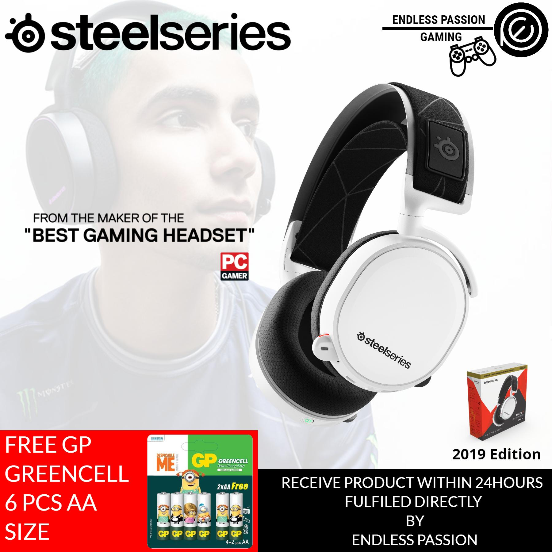 SteelSeries Arctis 7 (2019 Edition) Lag-Free Wireless Gaming Headset with DTS Headphone:X 7.1 Surround for PC, PlayStation 4, VR, Mac and Wired for Xbox One, Android and iOS