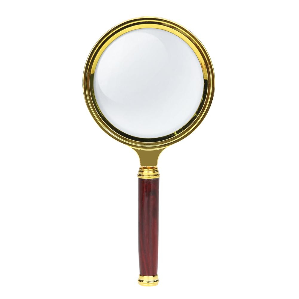 80/70/60mm Handheld 10X Magnifier Magnifying Glass Loupe Reading Jewelry(Undefined)-