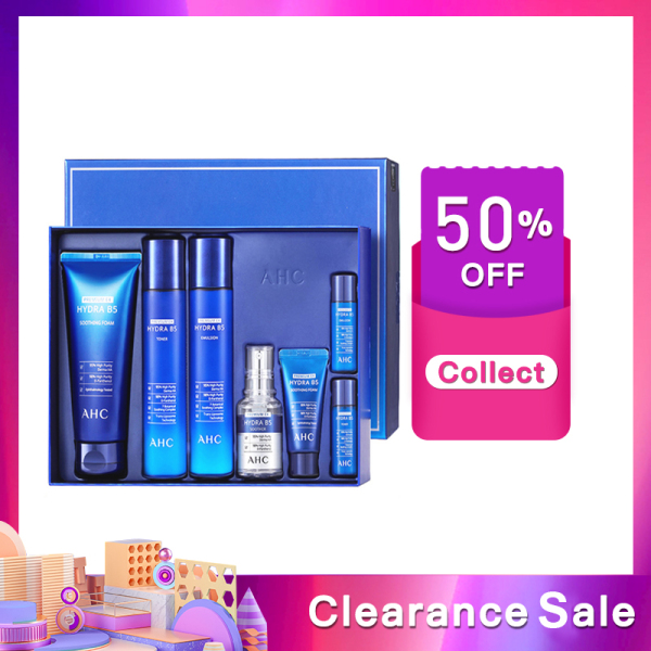Buy AHC B5 Hyaluronic Acid Moisturizing Six Pieces Skin Care Set【Expire Date 10-09-2021】 Singapore