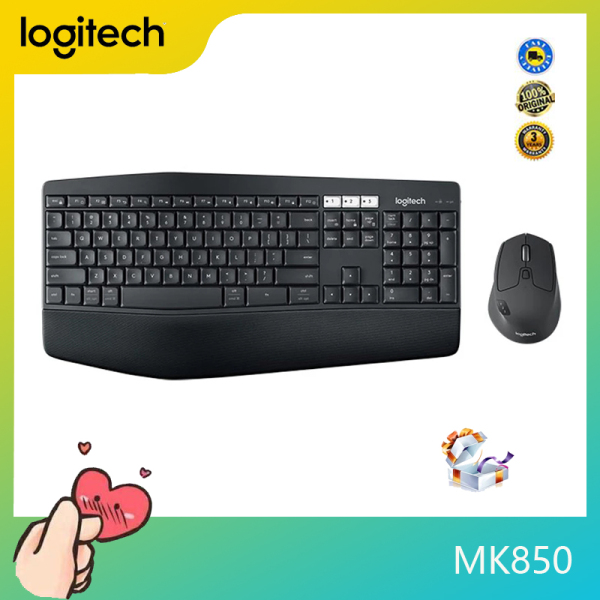 Logitech MK850 Wireless Mouse Set Both keyboard and mouse are compatible with multiple devices and multiple systems. The keyboard can type on the computer and then switch the tablet. The mouse can be paired with up to three computers Singapore