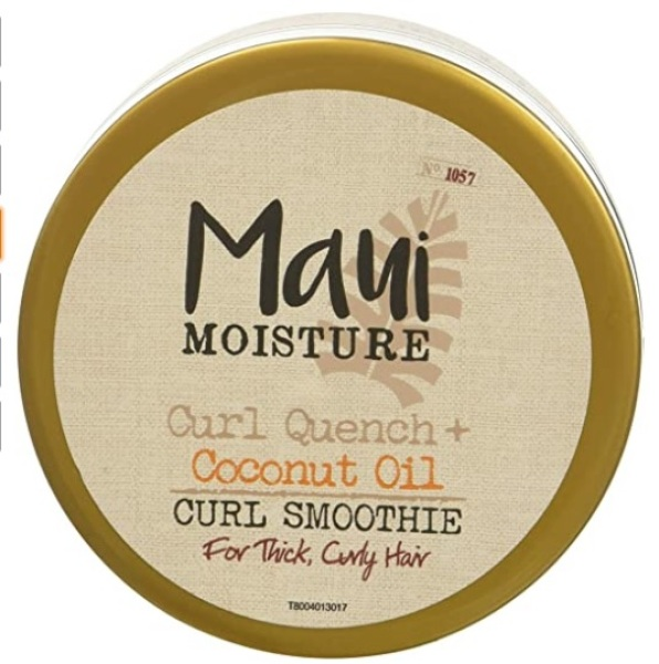 Buy Maui Moisture Curl Quench + Coconut Oil Curl Smoothie, 12 Ounce, Creamy Silicone Free Styling Cream for Thick Curls, Twist-Outs, Braids, Wash-and-Go Styles Singapore