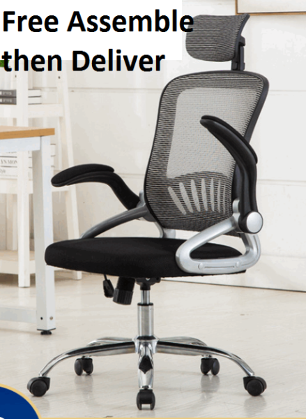mesh Executive chair Office chair  ergonomic adjustable ArmRest Movable gaming chair/free delivery & installation/steel leg