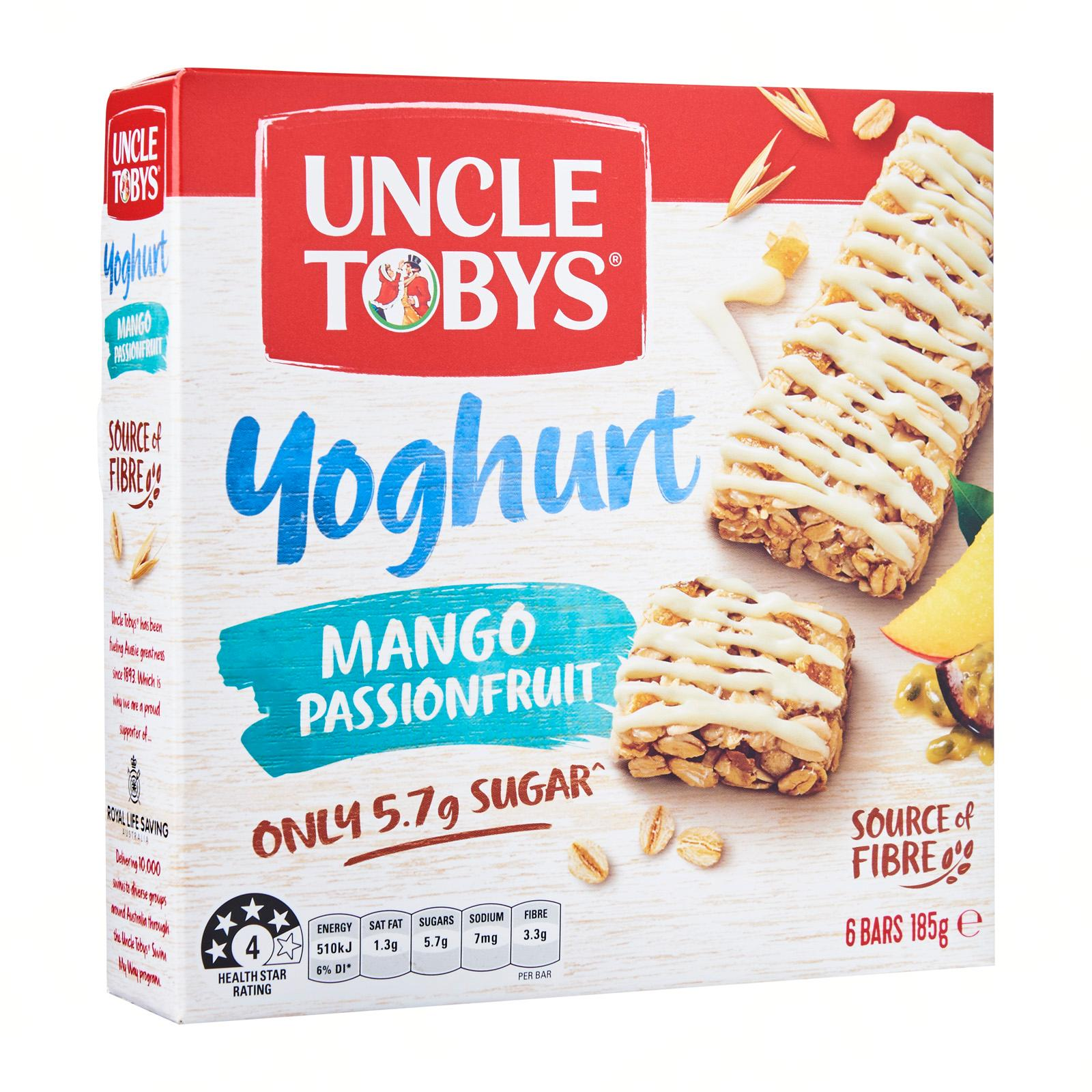 Uncle Toby's Yoghurt Topps Mango And Passionfruit Muesli Bar