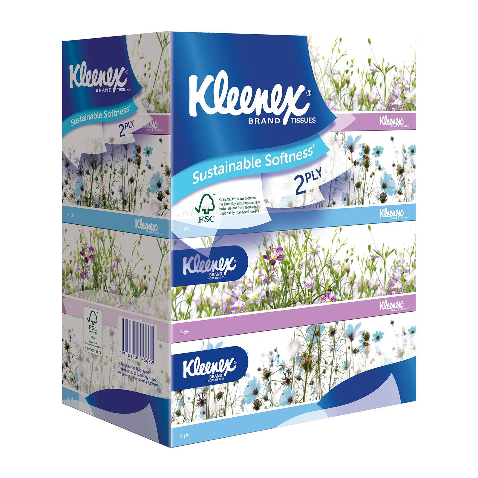 Kleenex 2 Ply Garden Facial Tissues