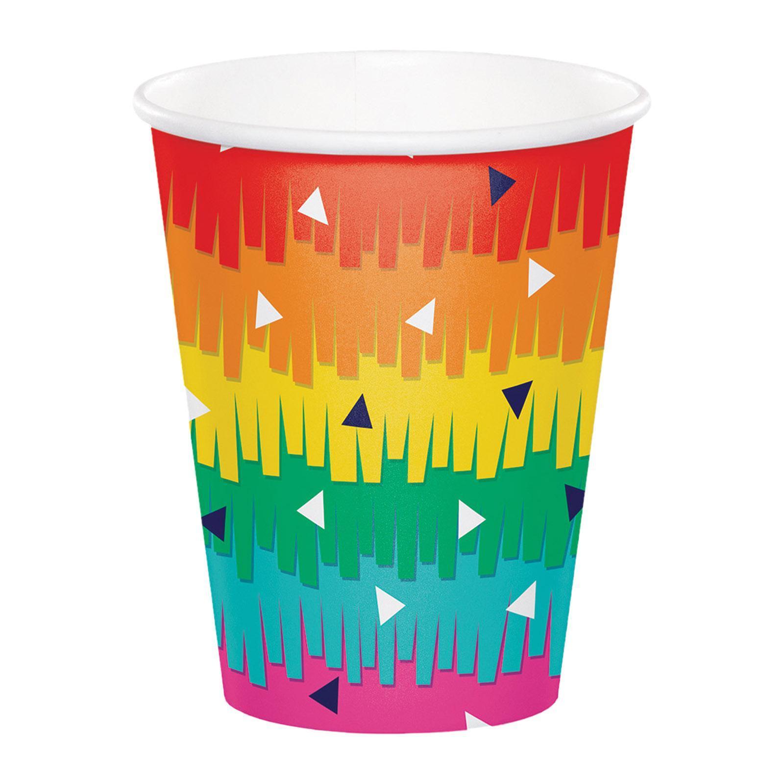 Creative Converting Fiesta Fun 9 oz Paper Cups 8PCS/Pack