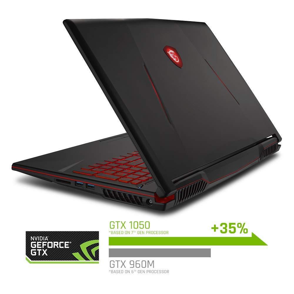 MSI GL63 8RCS-060 15.6 Gaming Laptop, Intel Core i5-8300H, NVIDIA GTX1050, 8GB, 256GB Nvme SSD, Win10