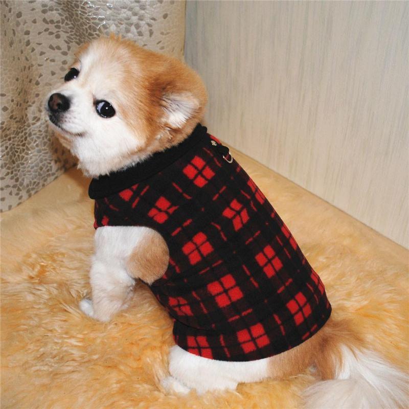 Miễn Phí Vận Chuyển Pet Dog Cat Villus Ấm Vest Puppy Doggy Trang Phục Quần Áo