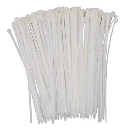 [Bundle of 10] 100pcs Nylon Cable Zip Ties Cable tie with Self-Locking UV Resistant Heavy Duty 200mm