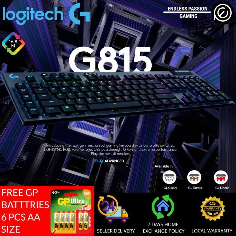 Logitech G815 LIGHTSYNC RGB MECHANICAL GAMING KEYBOARD Singapore