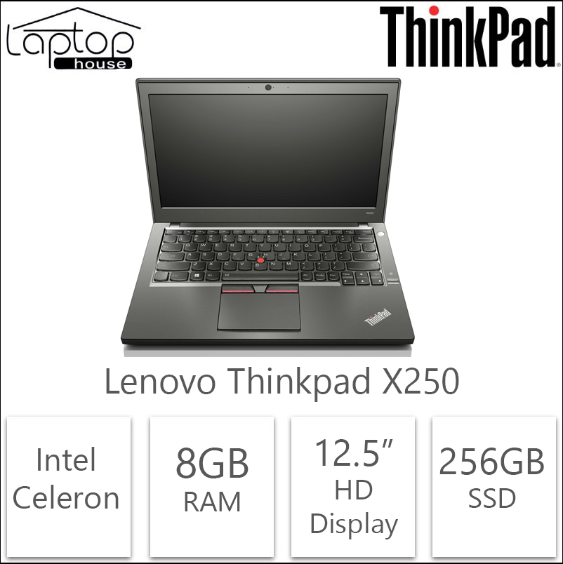 NEW YEAR CLEARANCE SALE!! LIMITED STOCKS!! Lenovo ThinkPad X250 Intel Celeron 8GB RAM 256GB SSD Hurry!! 10 pcs ONLY.