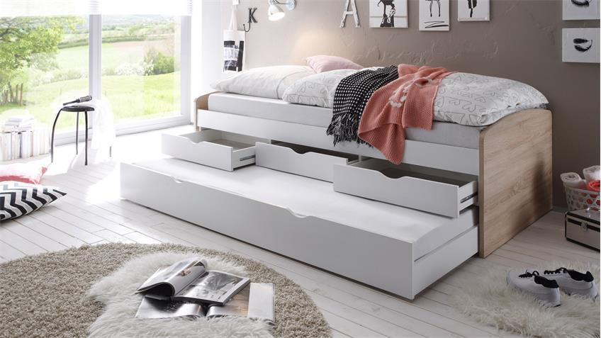 Tandem Bed 2 sleeping berths and 3 drawers