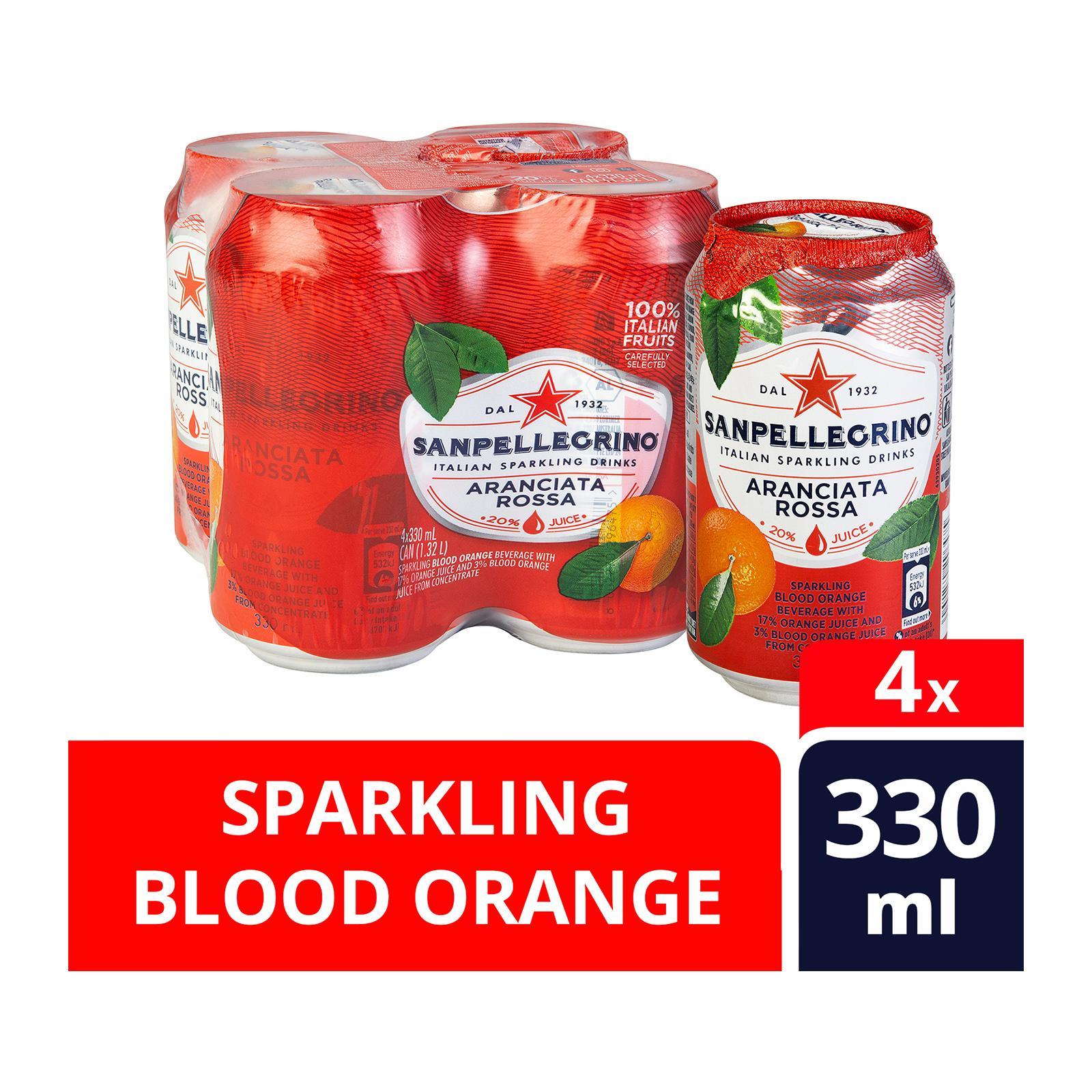 San Pellegrino Sparkling Can Drink - Aranciata Rossa