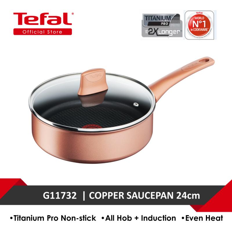 Tefal Chef's Delight Copper Sautepan 24cm w/lid G11732 Singapore