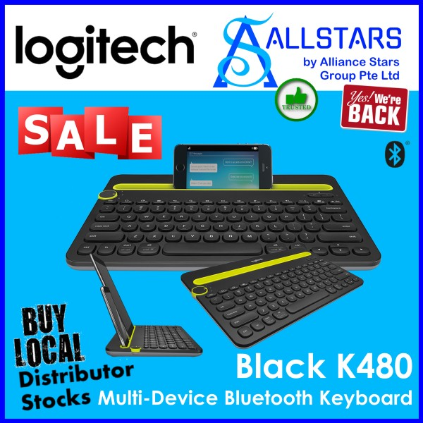 (ALLSTARS : We are Back PROMO) LOGITECH K480 MULTI-DEVICE BLUETOOTH KEYBOARD (Black : 920-006380 / White : 920-006381)-WRTY 1YR W/BANLEONG Singapore