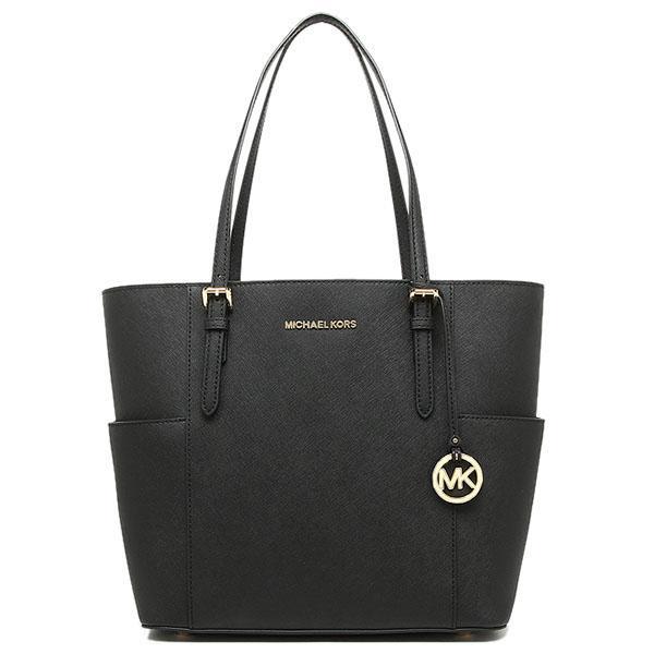 71eac48ad800 Michael Kors Jet Set Travel Large Leather Tote Handbag Black / Gold #  30T6GTVT3L + Gift