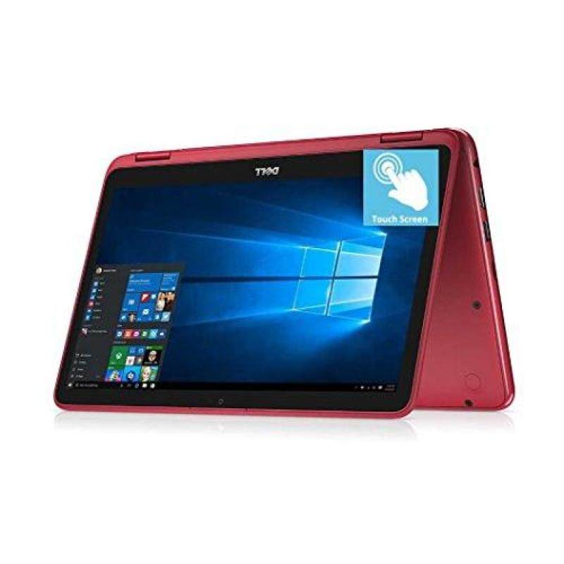 2018 Flagship Dell Inspiron 11.6 2-in-1 HD Touchscreen Convertible Business Laptop/Tablet - Intel Quad-Core Pentium N3710 8GB DDR3 128GB SSD WLAN Bluetooth HDMI Webcam MaxxAudio USB 3.0 Win 10 -Red