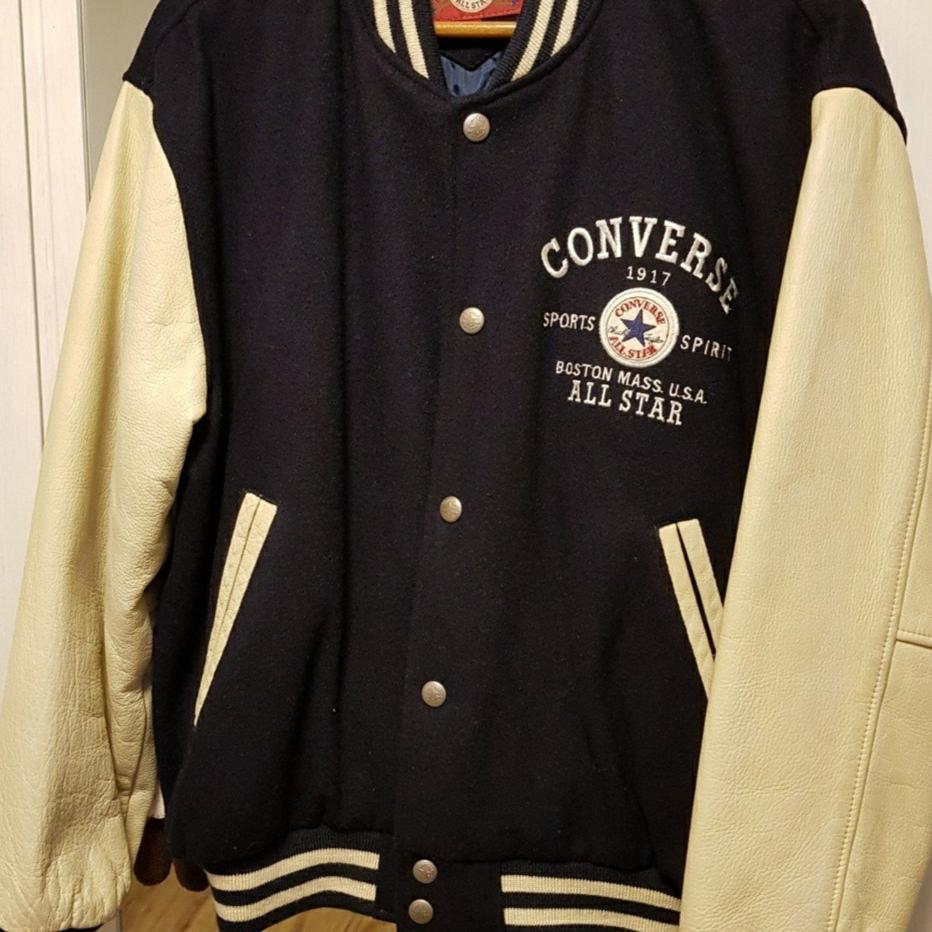 Classic Converse Leather Jacket.