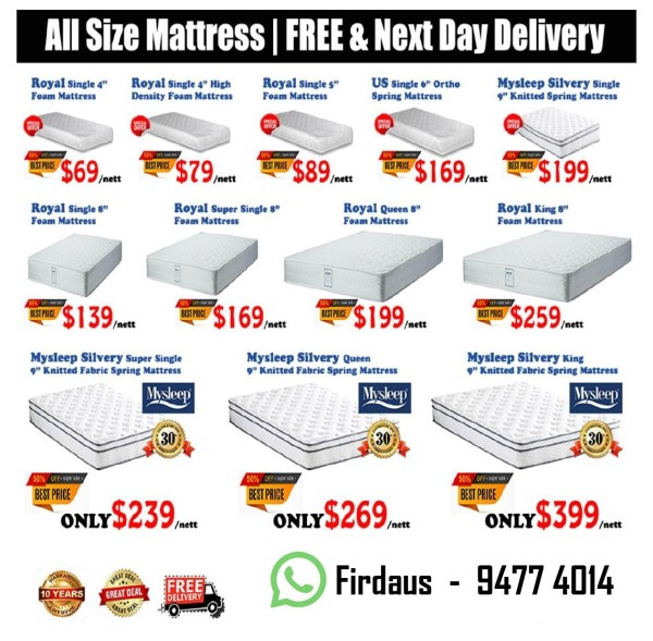MySleep Silvery 9 Mattress COD Available!