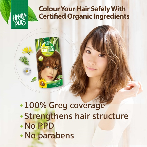 Buy HennaPlus Long Lasting Colour with Organic Extracts. PPD & Paraben Free. 100% grey coverage Singapore