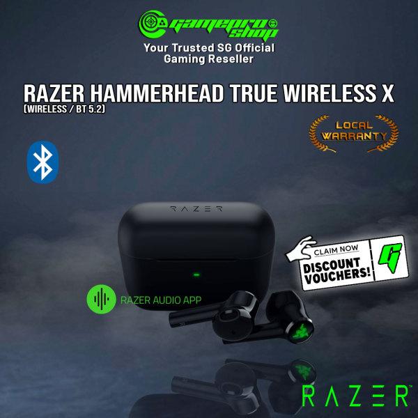 NEW Razer Hammerhead True Wireless X Gaming Earbuds Bluetooth 5.2 Semi In-Ear Tips- RZ12-03830100-R3A1 (2Y)