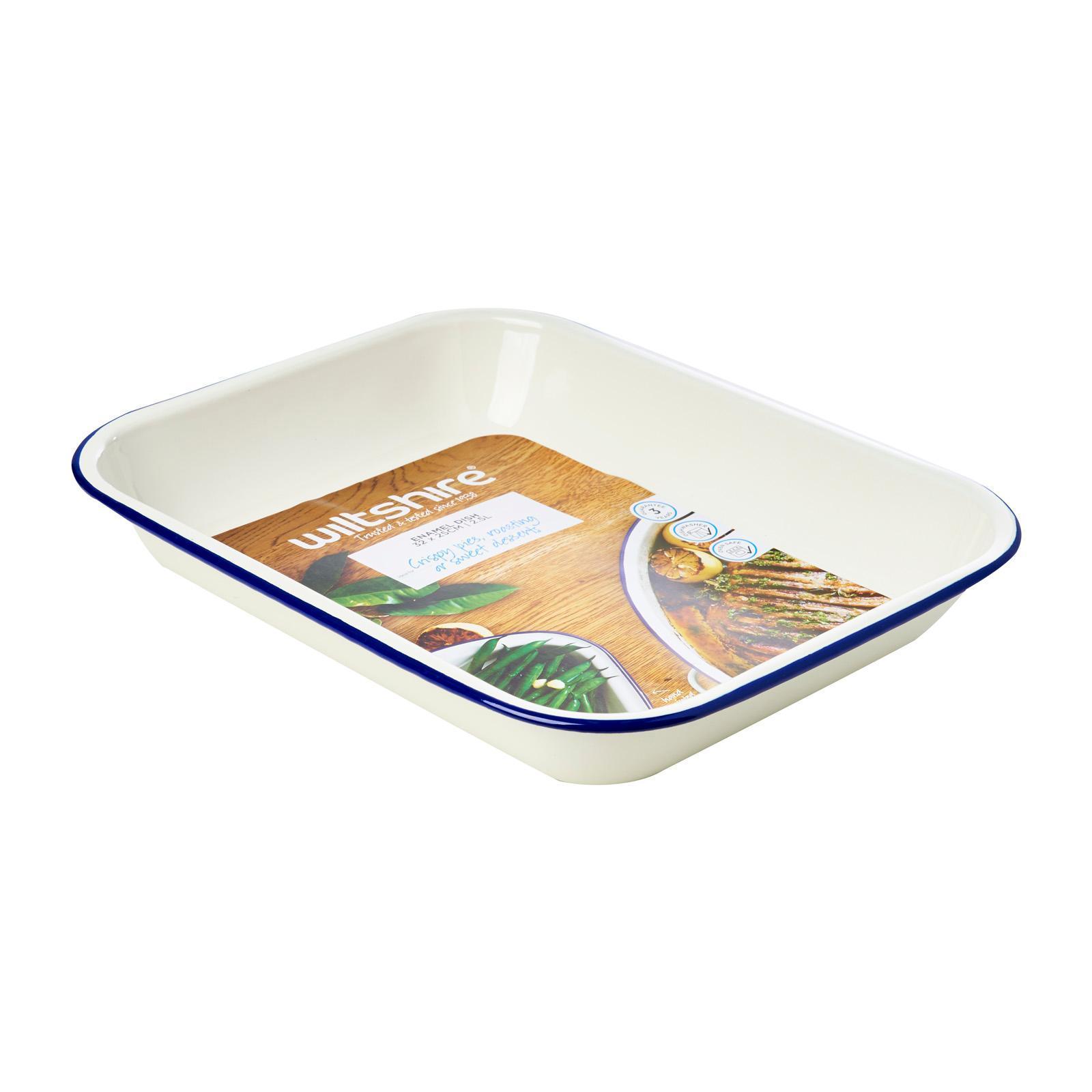 Wiltshire Large Enamel Baking Dish 34cm