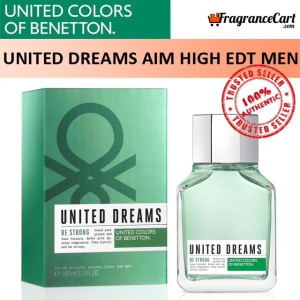 Buy Benetton United Dreams Aim High EDT for Men (100ml) Eau de Toilette Green [Brand New 100% Authentic Perfume/Fragrance] Singapore
