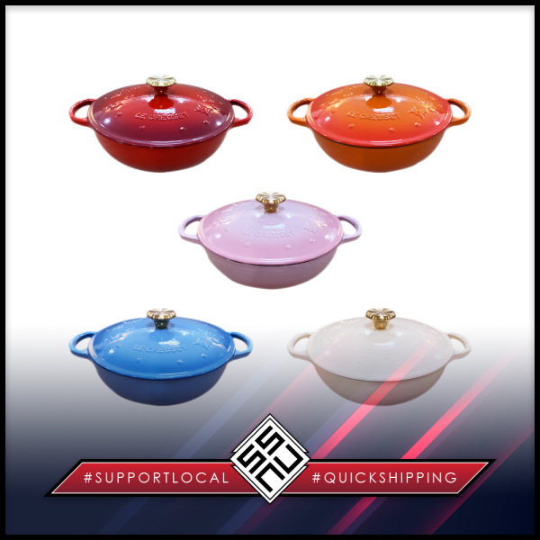 SSNUP215 - Le Creuset - Enamelled Cast Iron Star Relief Marmite Singapore