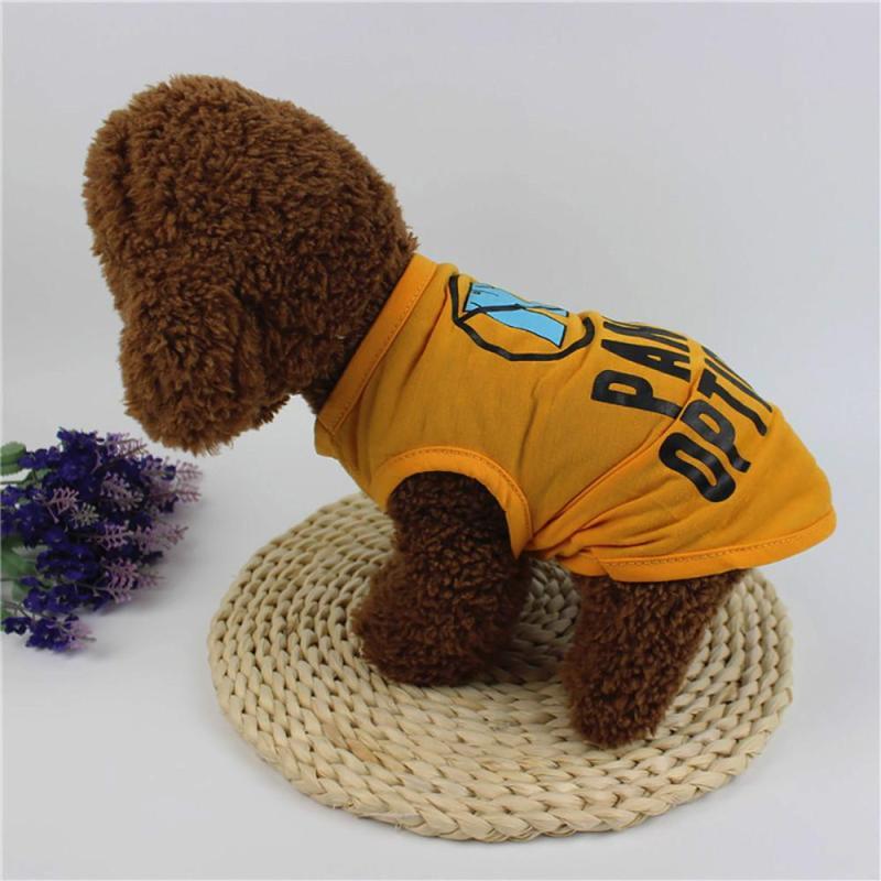 Miễn Phí Vận Chuyển Mùa Hè Dog Quần Áo Polyester Dễ Thương Vest Puppy Costume Cho Con Chó Nhỏ