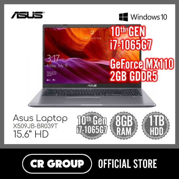 [Same Day Delivery] Asus Laptop X509JB-BR039T 15.6 Inch HD  | Intel Core i7-1065G7 | 8GB DDR4 RAM | 1TB HDD | NIVIDA GeForce MX110 2GB GDDR5