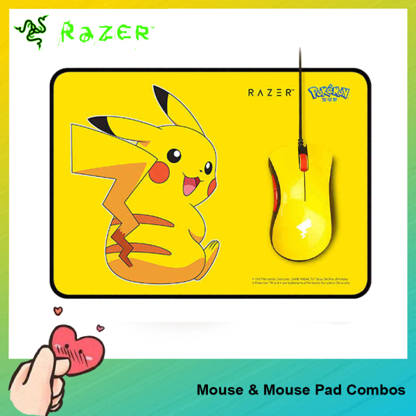 [Ready to Ship] Original Razer Pokemon Pikachu Limited Edition Mouse & Mouse Pad Combos For PC Laptop Computer Singapore