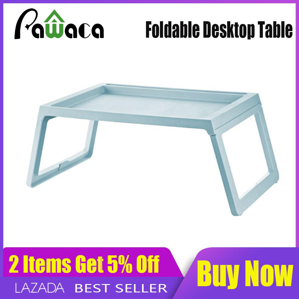 【Ready Stock】Pawaca Foldable Laptop Table  Superjare Bed Desk Portable Mini Picnic Table & Ultra Lightweight