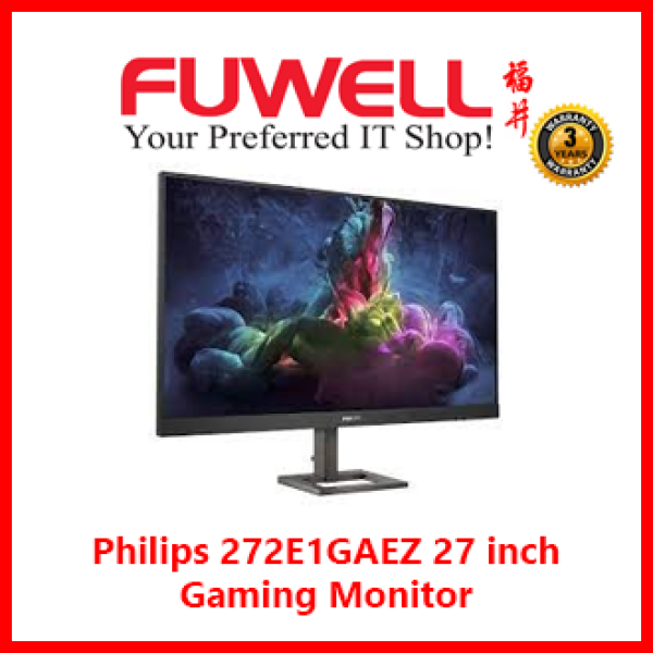 Philips 272E1GAEZ 27 inch Gaming Monitor / VA / 165Hz / DP+HDMI / Audio Out / Built-In-Speaker / Height Adjustable / VESA Mount [ 3Years Local Warranty ]