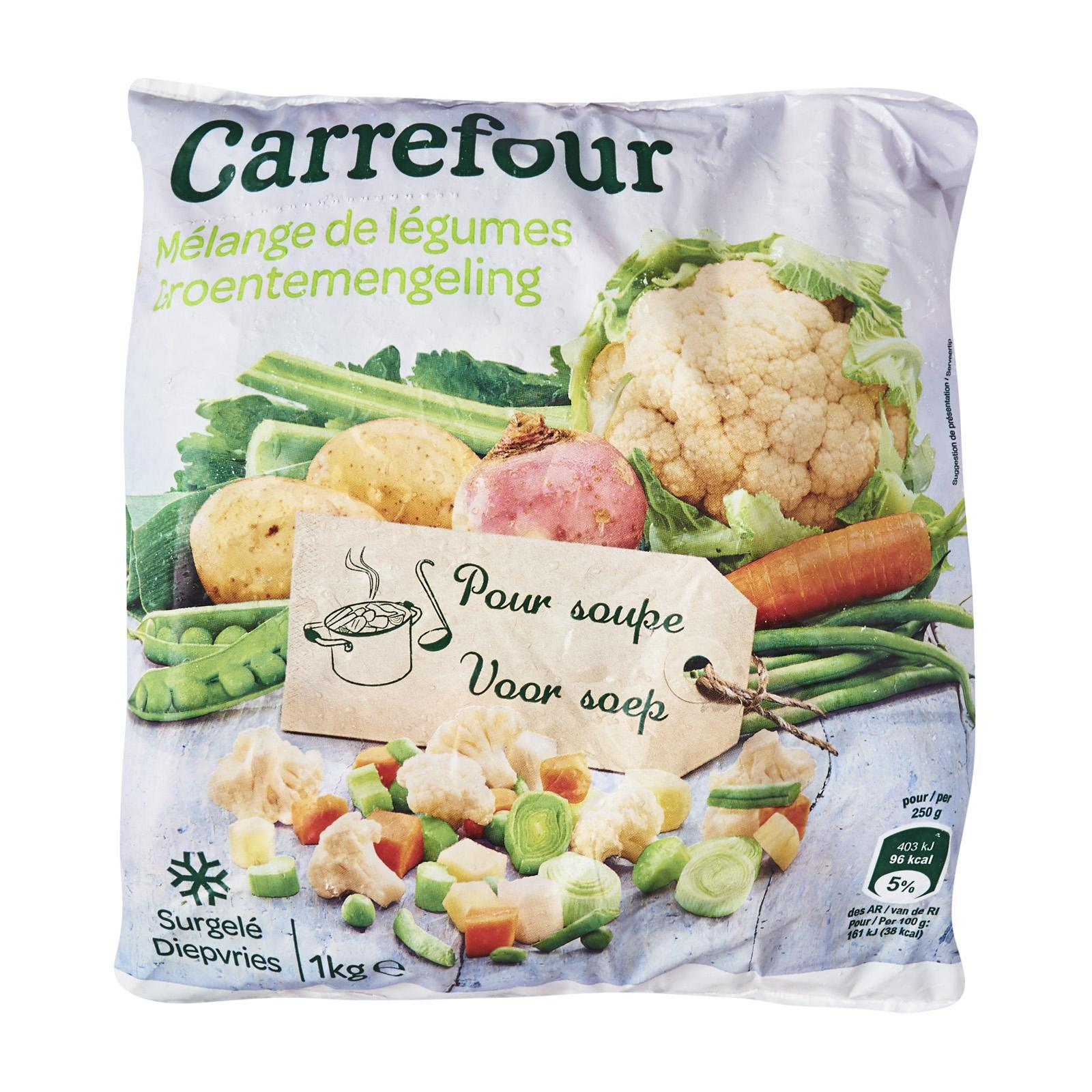 Carrefour Mixed Veggies For Soup - Frozen - By Le Petit Depot By Redmart.