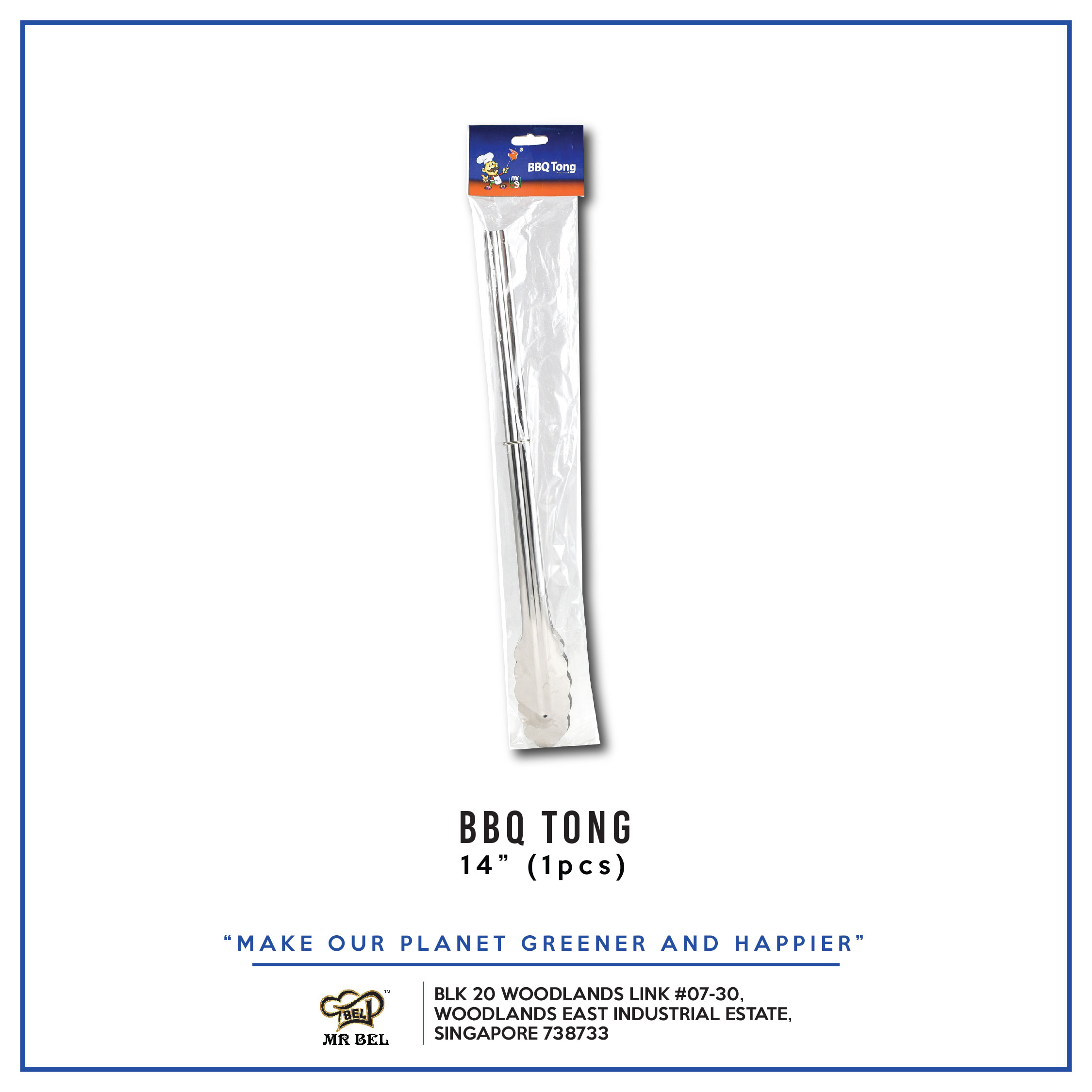 BBQ Tong 14  per pack - 1 Carton (24packs)
