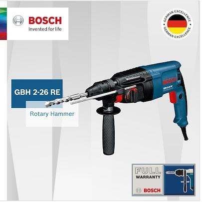 Bosch Rotary Hammer with SDS-plus GBH 2-26 RE (Rated input power 800W,Weight 2.7kg)