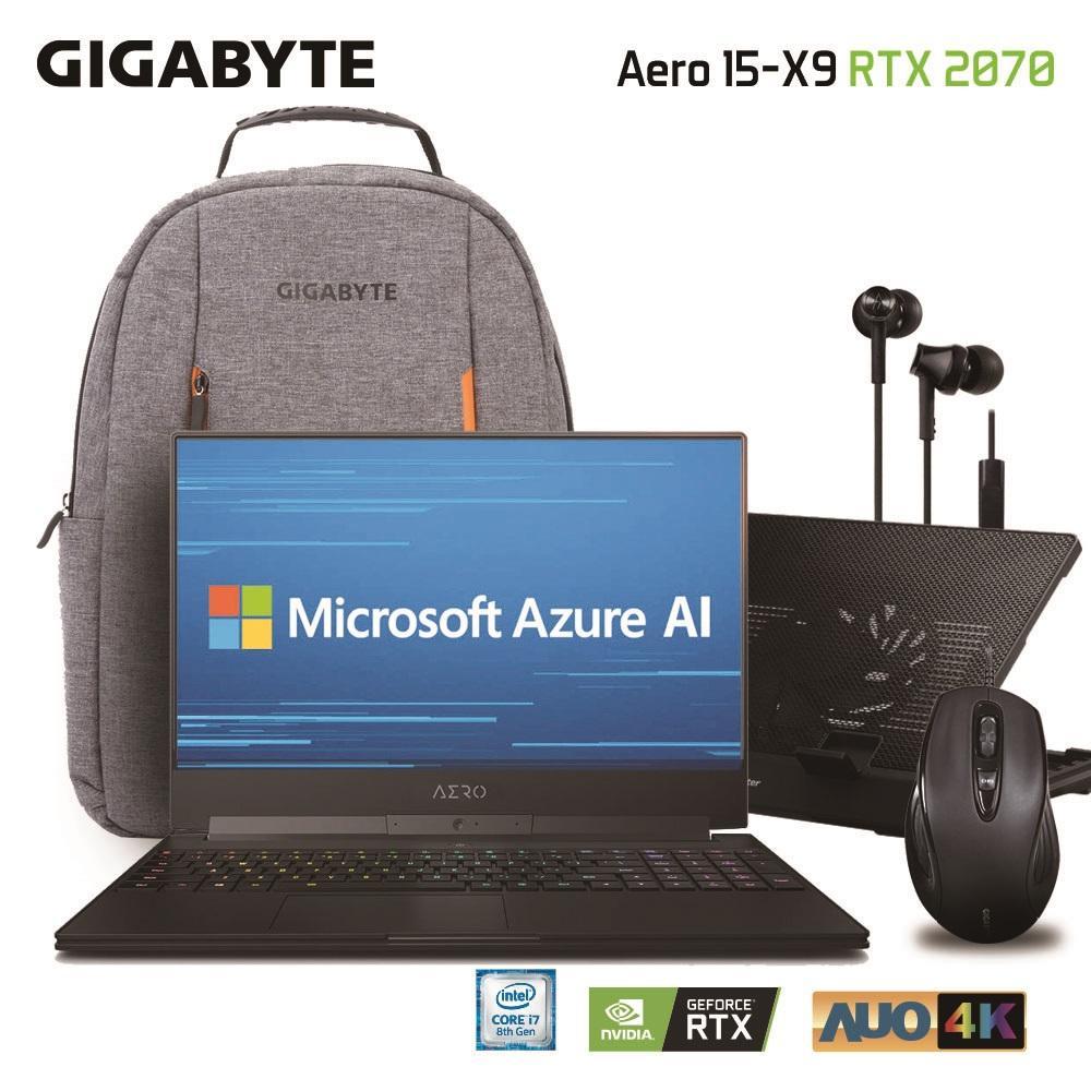 GIGABYTE AERO 15-X9 Core i7-8750H NVIDIA GeForce RTX 2070 Memory 32GB SSD 1TB Win10 Pro 15.6 AUO 4K UHD Slim & Light Gaming Laptop [Ships 2-3 days]