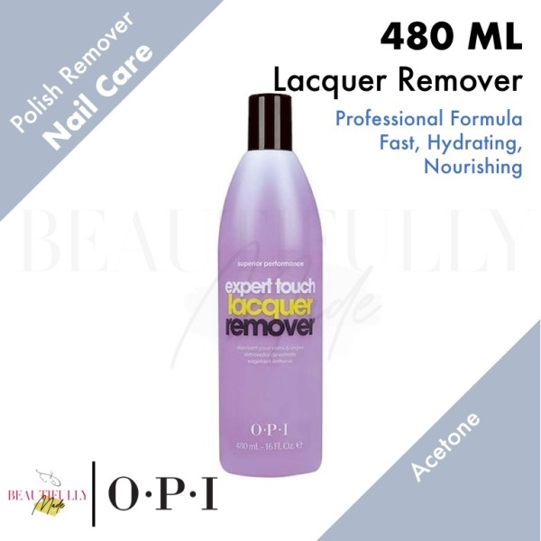 Buy OPI Expert Touch Lacquer Remover 480ml - With Acetone • Removes Nail Polish • Soak Off Gel Polish Gelish Singapore