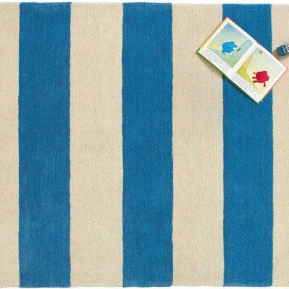 GLTC RUG – WIDE STRIPED BLUE