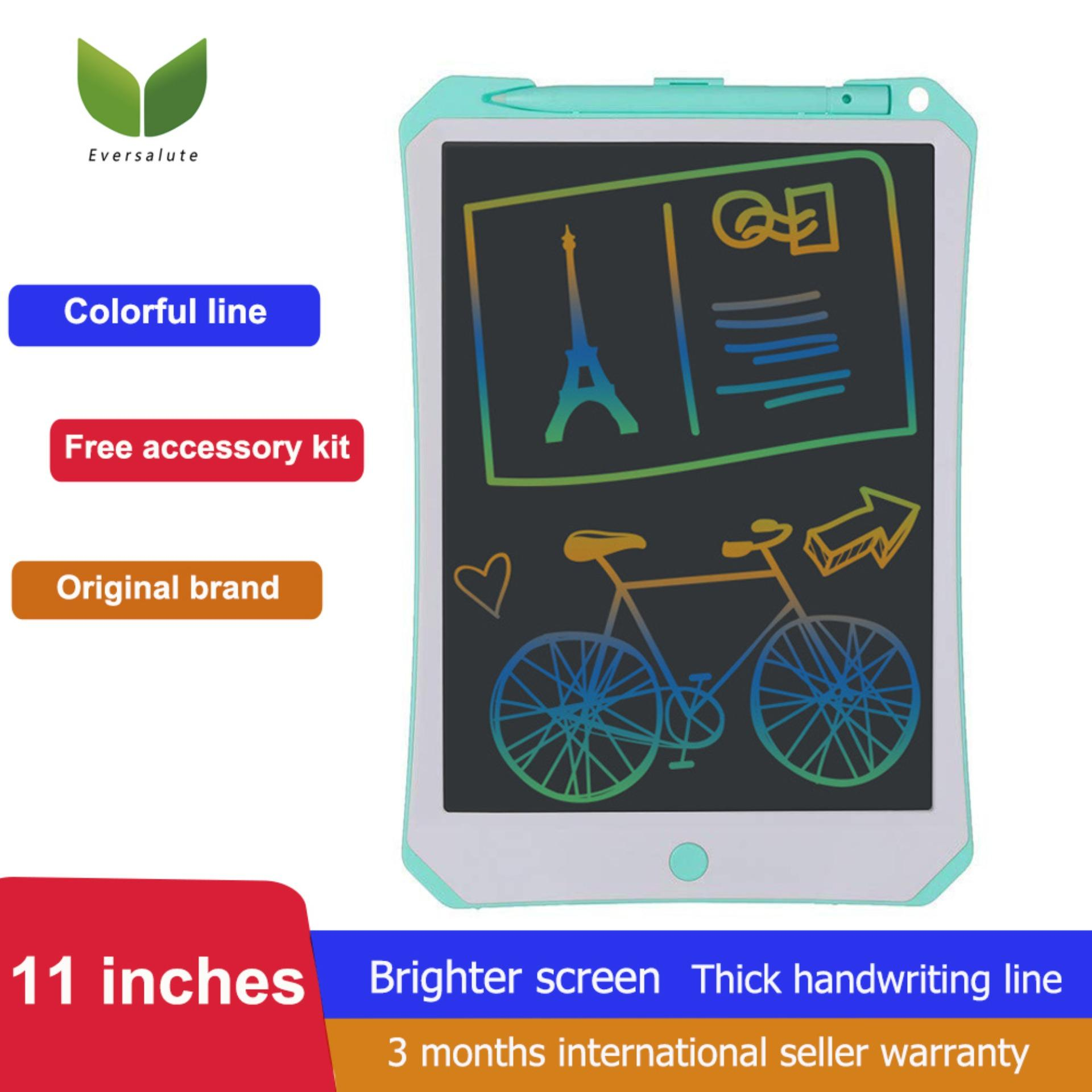 Eversalute New 11 Inch Colorful LCD Writing Tablet With High Brightness And Thick Handwriting Line Screen Drawing Pad Electronic Graphic Drawing Tablet Great Christmas Gift For Kids