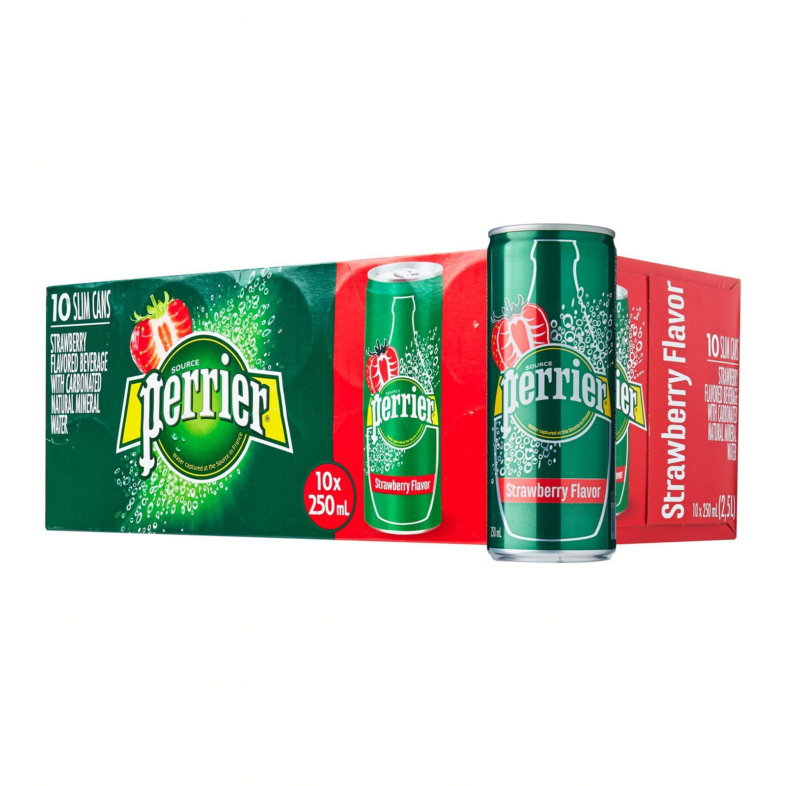 Perrier Strawberry Sparkling Natural Mineral Water Fridge Pack