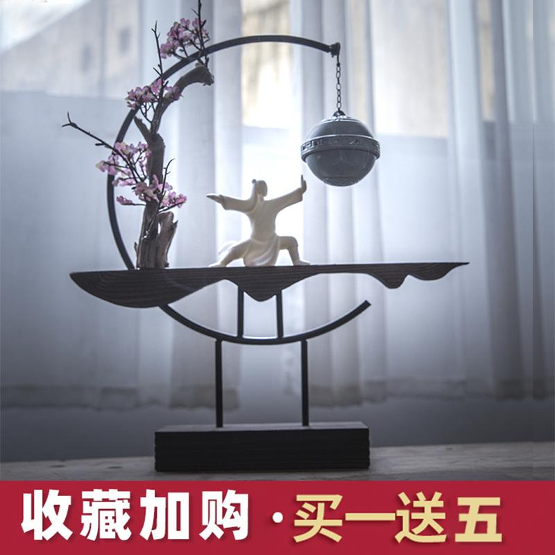 Creative Chinese Style Zen Lucky Chinese Eaglewood Incense Reverse Flow Censer Living Room Clubhouse 58 Decorations Incense Holder Decoration