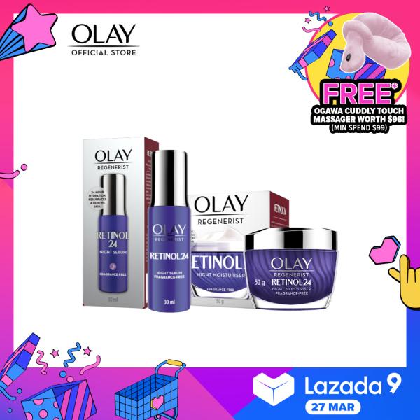 Buy [Bundle of 2] Olay Face Cream Retinol Regenerist + Olay Face Serum Retinol Regenerist Singapore