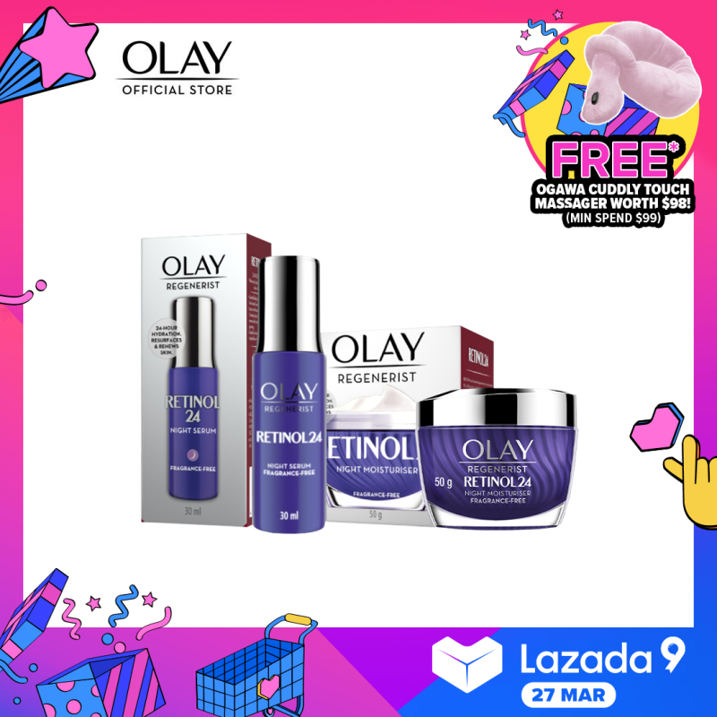 Buy [Bundle of 2] Olay Face Cream Retinol Regenerist + Olay Face Serum Retinol Regenerist Singapore